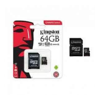 Kingston - Memoria Micro SD 64 GB Clase 10 - Negro